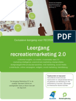 Leergang Recreatiemarketing 2.0
