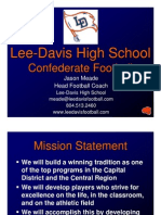 Lee-Davis HS - Football Philosophy