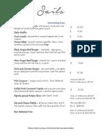 sails  menu november 2014-1