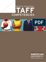 Performance Management Staff Competencies Guide