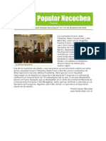 Gacetilla de Prensa del Frente Popular Necochea 14