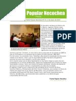 Gacetilla de Prensa del Frente Popular Necochea 15
