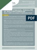 Paradis Fiscaux Fiscalité Et Multinationales[1]
