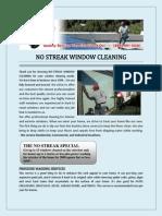 NO STREAK WINDOW CLEANING