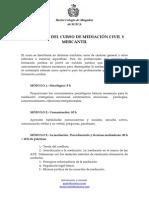 PROGRAMA DEL CURSO DE MEDIACIÓN CIVIL Y MERCANTIL ILUSTRE COLEGIO DE ABOGADOS DE SUECA