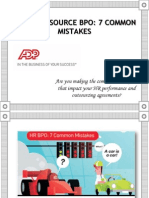 7 common mistakes found while outsourcing HR function