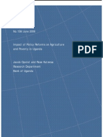 6 - Impact of Policy Reforms on Agriculture and Poverty in Uganda