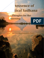Quintessence of Practical Sadhana - Thoughts for the Morning -- Sw. Shantananda Puri