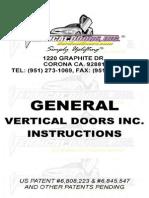 Verticaldoors General Instructions