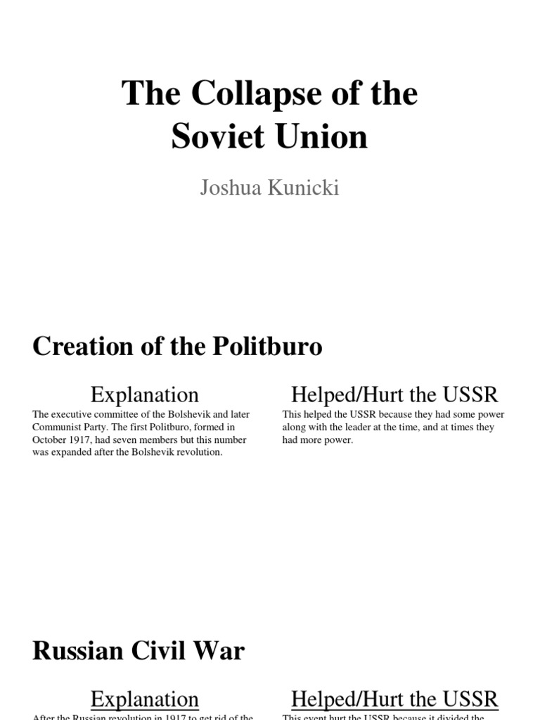 the reasons for the collapse of the soviet union and creation of new states Rise of superpowers after wwii neither the united states nor the soviet union possessed the this is the underlying reason behind the soviet union's.