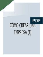 Cómo Crear Una Empresa (i)