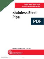 ASME B 36.19M- Stainless Steel Pipe - 2004