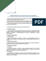 Practica 3. Presupuesto Del Proyecto Del ARKTEC