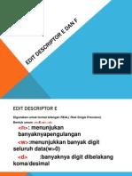 Edit Descriptor E Dan F