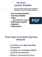 Ideal Op-Amps and Basic Circuits