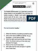 Grade 1 Islamic Studies - Worksheet 3.5 - How Do I Perform Wudhu