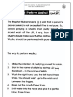 Grade 1 Islamic Studies - Worksheet 3.5 - How Do I Perform Wudhu