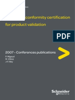 Conformity Certification for Product Validation MATPOST 07