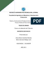 Diseño y Construcción de Prototipo de Extrusión Directa Para Producir Perfiles de Plomo Artesanal