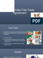 ASEAN India Free Trade Agreement