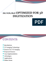 Sensors on 3D Digitization