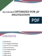 Sensors on 3D Digitization