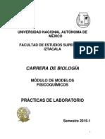 Practicas e Módulos de modelos fisicoquímicos. FES Iztacala.