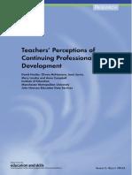 Teacher Preception