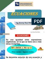 Ecuaciones Lineales, Cuadráticas, Inecuaciones