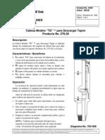 Cabeza Modelo TD Para Descargar Tapon