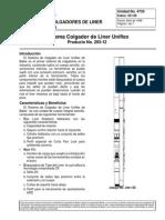 Sistema Colgador de Liner Uniflex
