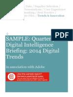 SAMPLE QDIB 2014 Digital Trends January 2014