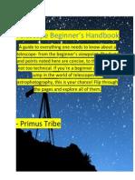 Telescope Beginner Dictionary