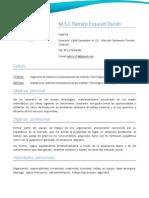 Curriculum Ramiro Esquivel Duran