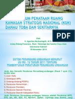 Aspek Hukum Penataan Ruang Kawasan Strategis Nasional (KSN) Danau Toba dan Sekitarnya