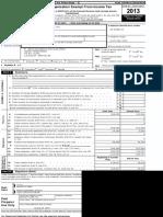 NERD Fund 2013 IRS-990 form