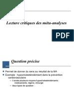 Lecture critique des méta-analyses