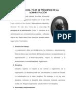 Henri Fayol y Los 14 Principios de La Administracion