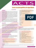 Factsheet 71 - Introduccion a Los Trastornos Musculoesqueleticos de Origen Laboral