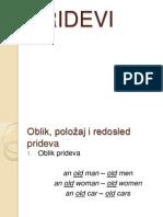 Engleski Jezik PRIDEVI 2014