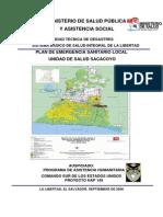 Plan de Emergencia Sanitaria de la Unidad de Salud de Sacacoyo