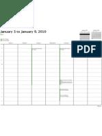Veekas Schedule 1-3-09 to 1-9-09