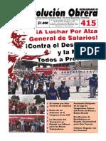 Semanario Revolución Obrera No. 415