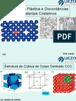 Aula 4 - Deformação e Discordância de Metais Cristalinos 1.Pd f