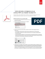 Adobe Acrobat Xi Edit Text and Images in a PDF File Tutorial e
