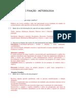 Exercícios de Fixação - Metodologia Cientifica