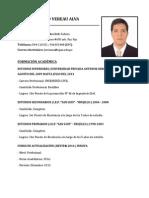 CV -  Jose Vereau Alva