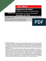 Karl Marx - O Congresso Da Haia