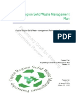 Capital Region Solid Waste Mgmt Plan (Draft for Steering Committee)