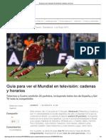 Guía Para Ver El Mundial en Televisión_ Cadenas y Horarios
